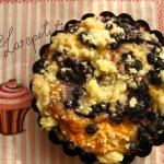 Kajmakowe muffiny z jagodami