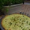 Kremowa tarta cukiniowa z serem i tymiankiem