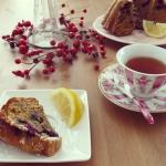 Ciasto z herbatą earl grey, borówką, cytryną i suszonymi śliwkami