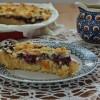 Ciasto z domowym budyniem i czereśniami
