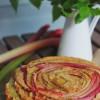 Imbirowe ciasto z rabarbarem i cukrem muscovado